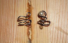 Fantasy Pearl Spiral Ear Cuff Set Right Ear by OakcrestCreations, $11.50
