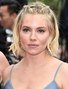 Sienna Miller's updo with short tresses