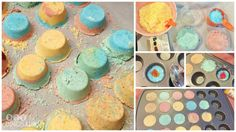 Bath Bombs without Citric Acid: Recipe List: 1/2 Cup Cornstarch 1/2 Cup Epsom Salts 1 Cup Baking Soda 4 Tablespoons Cream of Tartar 2 1/2 Tablespoons Coconut Oil 3/4 Tablespoon Water Essential Oil Food Coloring Mini Muffin Tin DIY Kid Safe Bath Bombs!