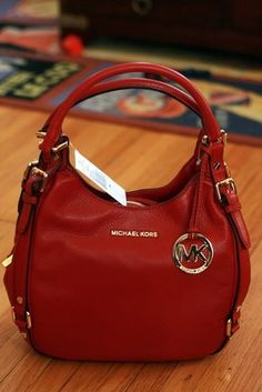 Nwt Michael Kors Handbag Bedford Medium Shoulder Tote Bag Red Leather $348 great design of michael kors handbags #factorymichaelkors#