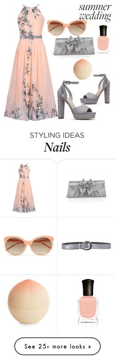 """""""Summer Wedding Guest"""" by ghostgypsy on Polyvore featuring WithChic, Dolma, Orciani, Bijoux Terner, Tony Moly, Linda Farrow and Deborah Lippmann"""