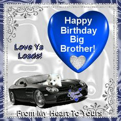 happy birthday brother from sister | Happy Birthday Quotes For Brother Heaven Gif - Quoteko.com