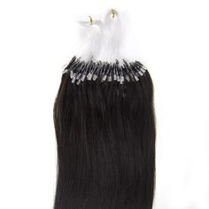 100S Micro rings/loop hair 16inches Human Hair Extensions #1b