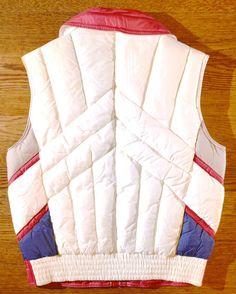 98e3badbe73 Rad Old School Flashy Red Blue and Grey Winter Vest Great Winter Vest, Old  School