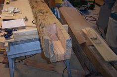 Hand Hewn Timber Post