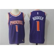 Mens Phoenix Suns Devin Booker  White /Purple 2017 Swingman New Jersey S-2XL