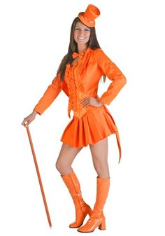 Sexy Orange Tuxedo Costume - Womens Sexy Dumb and Dumber Costume Ideas