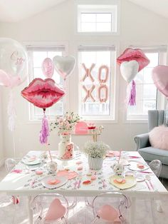 """Lips like Sugar"" Galentine's Party on Kara's Party Ideas | KarasPartyIdeas.com (16)"
