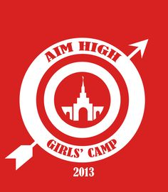 Logo for T-shirt made by our Design Committee.  Sacramento Temple.  Aim High.