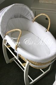 NEW Baby Moses Basket Bassinet Carrier AND White Rocking Stand Package | eBay
