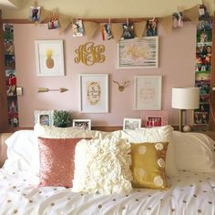 Texas tech room decor dorm living room ideas pink dorm rooms ideas college dorms on dorm . texas tech room decor my old dorm Gold Room Decor, Diy Wall Decor For Bedroom, Gold Bedroom, Bedroom Black, Bedroom Wall, Bedroom Ideas, Bedroom Girls, Diy Bedroom, Bedroom Pictures