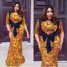 Ankara Long Gown Styles, Trendy Ankara Styles, Ankara Gowns, African Attire, African Fashion Dresses, African Dress, African Clothes, African Wear, African Lace