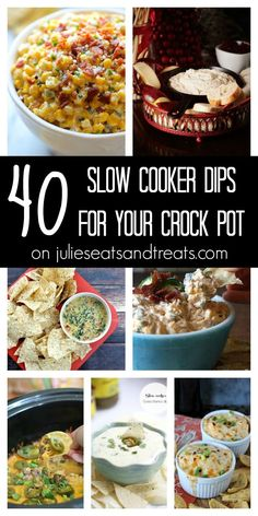 Check out these 40 Delicious Dip Recipes from Your Favorite Bloggers Made in the Slow Cooker! Grab your Crock Pot and Take the Easy Route!