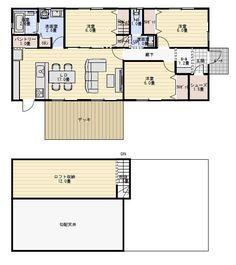 夫婦で住む3LDKの平屋の間取り図 | 平屋間取り Floor Plans, Sweets, Flooring, How To Plan, Architecture, House, Fashion, Sweet Pastries, Arquitetura