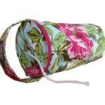 Pink Floral Yarn Bag by Funky Diva Designs