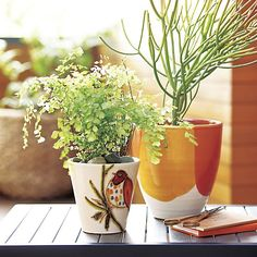 Bird Planter | Crate and Barrel garden patios, bird planter, crate, barrel, front porches