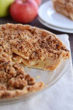 recipe: crustless apple pie with crumb topping [12]