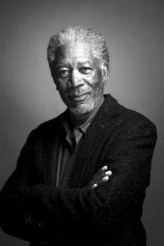 Morgan Freeman Poster Bw Portrait 24inx36in