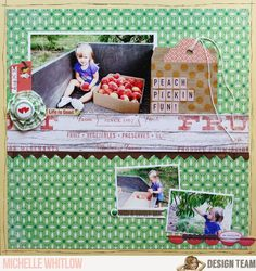 Peach Pickin' Fun, by Michelle Whitlow, using the NoelMignon Sweet & Simple kit.