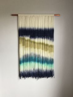 Dip dyed tapestry, boho home decor