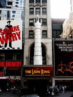Broadway Theaters-The Lion King (exceptional) me and Presley August 2012.