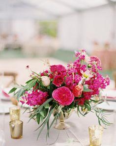 centro de mesa flores eucalipto