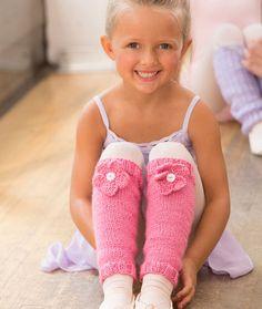 Ballerina Bloom Leg Warmers Free Knitting Pattern in Red Heart Yarns