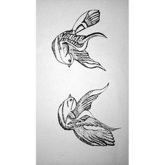 Birds don't have eyebrows #larry #tattoos #birds