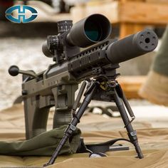 The SRS by Desert Tech, decked out in Nightforce F1 3.5-15x50 glass, Harris bipod,