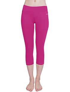 Baleaf Womens Yoga Capri Legging Inner Pocket Non Seethrough Cactus Flower Size M * You can find more details by visiting the image link.