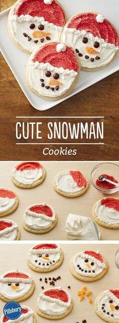 Cute Snowman Cookies: Bring the fun of building a snowman indoors with these kid-friendly holiday cookies.