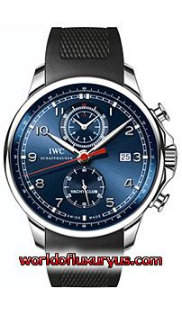 This IWC Portuguese Yacht Club Chronograph Mens Black Watch, IW390213 features 45.4 mm Stainless Steel case, Blue dial, Sapphire crystal, Fixed bezel, and a Rubber Black bracelet. IWC Portuguese Yacht Club Chronograph Mens Black Watch, IW390213 also features Automatic movement, Analog display, Date at 3 o'clock. This watch is water resistant up to 120 Meters / 400 ft. - See more at: http://www.worldofluxuryus.com/watches/IWC/Portuguese/IW390213/185_210_7917.php#sthash.lPCyVftH.dpuf