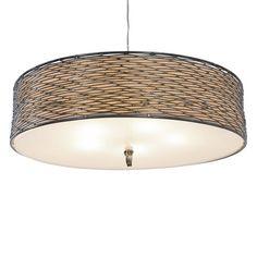 Varaluz Flow 5 Light Drum Shade Pendant Light Price: $549.00
