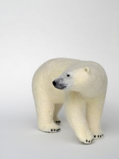 Same artist, Miki - wool felt polar bear