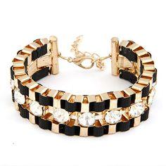 2017 Pulseiras Mujer Fashion Gold Charms Bracelets Bangles for Women Jewelry Brazaletes Pulseras Crystal Bracelet Femme Bijoux