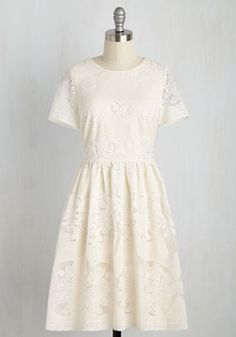Get the Joyful Treatment Dress. If you wish to feel pampered with prettiness and regaled with grace, this ivory dress will delight you to bits!…