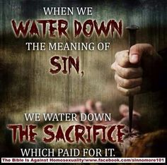 """✞❣ We INSULT JESUS & His sacrifice if we Water Down Sin. -Love WARNS!- Ezekiel 33. Hebrews 10:28-29: """"Anyone who has rejected Moses' law dies without mercy on the testimony of 2 or 3 witnesses. How much severer punishment do you think he will deserve who has trampled under foot the Son of God, & has regarded as unclean the blood of the covenant by which he was sanctified, and has insulted the Spirit of grace?"""""""