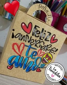 Gifts For My Boyfriend, Boyfriend Anniversary Gifts, Diy Birthday, Birthday Cards, Flower Box Gift, Weird Gifts, Notes Design, Original Gifts, Cute Cartoon Wallpapers