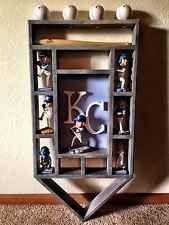 KC Royals Bobblehead Wood Display Shelf Art Kansas City MLB Original Local Art