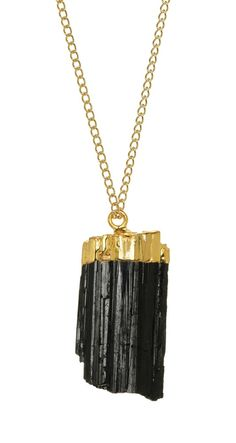 Love this black tourmaline necklace dipped in gold ($48)...and pretty much everything about this shop! Made in Brooklyn.