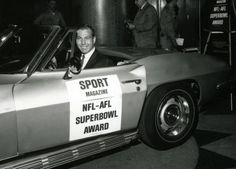 Green Bay QB Bart Starr and his Super Bowl Corvette
