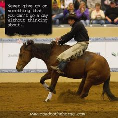 Never give up on something that you can't go a day without thinking about!