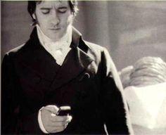 Mr. Darcy texting