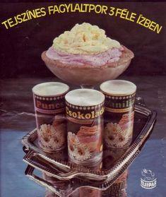 A legtöbben dobozból kanalaztuk a retro fagylaltport. Vintage Posters, Retro Posters, Budapest, Memories, History, Food, Dj, Childhood, Hungary