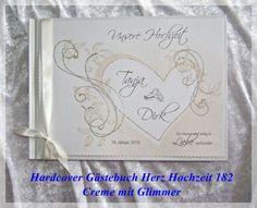 Gästebuch,Hochzeit,Creme,Glimmer,Hardcover