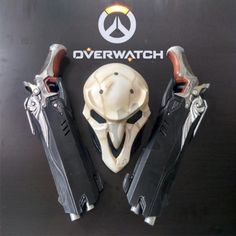 1:1 Mens Overwatch Reaper Double Guns Mask Cosplay Cos Props Weapon Gun OW Gift #Unbranded