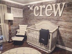 Excellent baby arrival info are offered on our site. Check it out and you wont be sorry you did. Baby Boy Rooms, Baby Boy Nurseries, Baby Beds, Kid Rooms, Nursery Room, Nursery Decor, Nursery Ideas, Name In Nursery, Rustic Nursery Boy