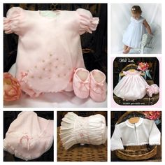 Hand smocked & embroidered dresses preemie to 24 mos. From Willbeth. In stock at Irene's Fashions, 253 Columbia St. Embroidered Dresses, Fall River, Smocking, Columbia, Ruffle Blouse, Clothes, Tops, Women, Fashion