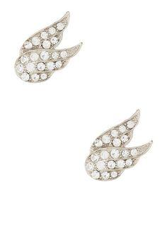 Josee Crystal Wing Stud Earrings