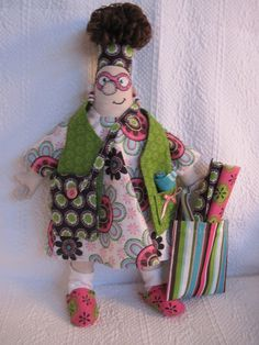 made from Amy Bradley Designs Fabric Addict Doll pattern